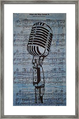 Shure 55s On Music Framed Print