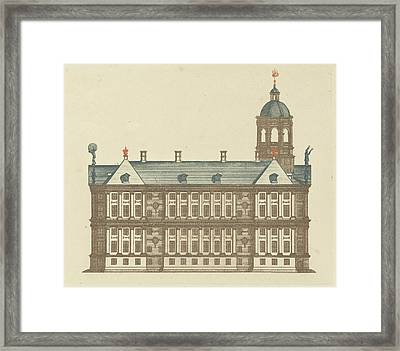 Side Wall Of The Town Hall In Amsterdam, The Netherlands Framed Print