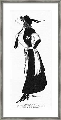 Sidonie-gabrielle Willy  French Framed Print by Mary Evans Picture Library