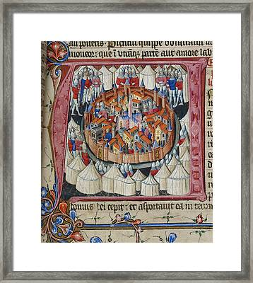 Siege Of Jerusalem Framed Print by British Library