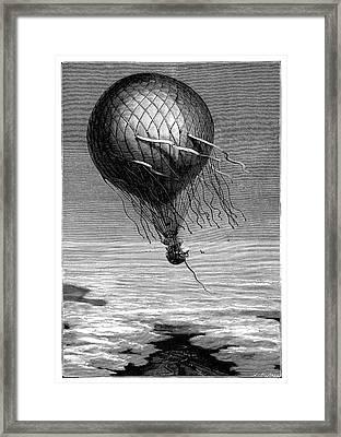 Siege Of Paris Balloon Flight Framed Print