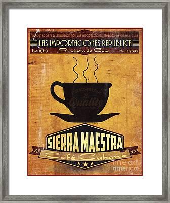 Sierra Maestra Cuban Coffee Framed Print