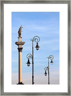 Sigismund's Column In Warsaw Framed Print by Artur Bogacki