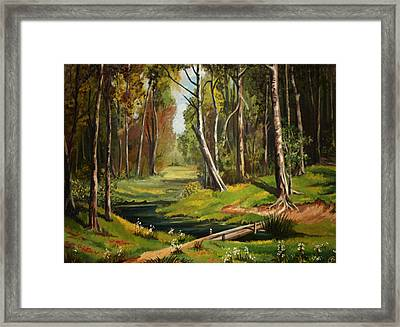 Silence Of The Forest Framed Print