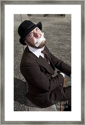 Silence Of The Oppressed Framed Print