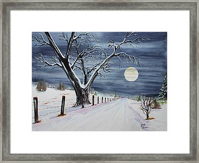 Silent Cold Night Framed Print by Jack G  Brauer