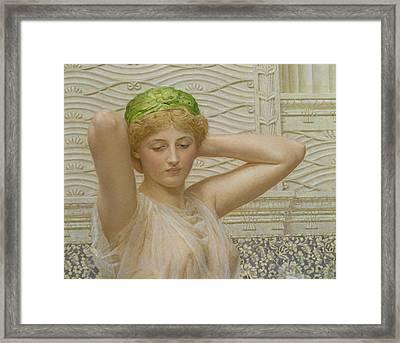 Silver Framed Print by Albert Joseph Moore