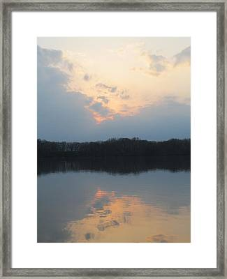 Silver Lake Golden Skies Framed Print by Jaime Neo