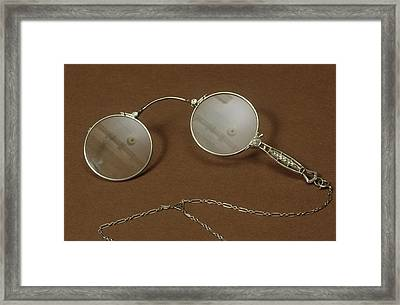 Silver Lorgnette Framed Print by Science Photo Library