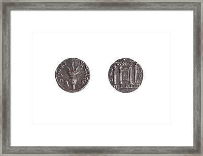 Silver Shimon Bar Kokhba Coin Framed Print
