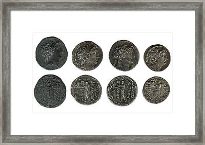 Silver Tetradrachm Coins Framed Print