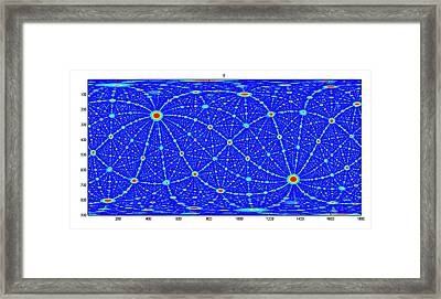 Simulated Crystal Planes Framed Print