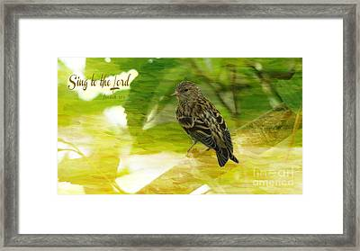 Sing To The Lord Framed Print by Beverly Guilliams