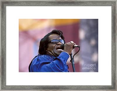 Singer James Brown Framed Print by Concert Photos