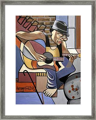 Singing The Blues Framed Print