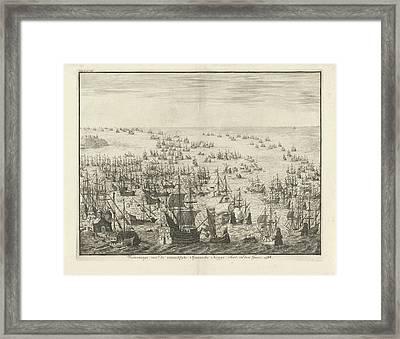 Sinking Of The Spanish Armada, 1588, Jan Luyken Framed Print