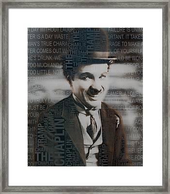 Sir Charles Spencer Charlie Chaplin Square Framed Print
