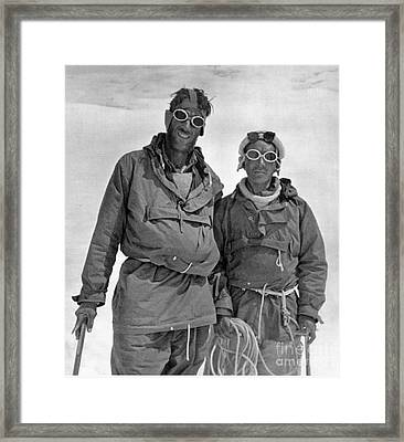 Sir Edmund Hillary Framed Print by Granger