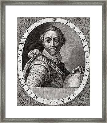 Sir Francis Drake, English Adventurer Framed Print