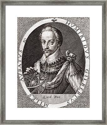 Sir Humphrey Gilbert, English Explorer Framed Print