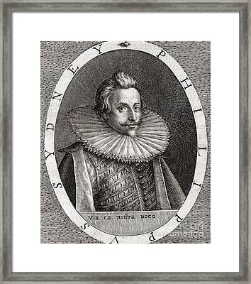 Sir Philip Sydney, English Poet Framed Print