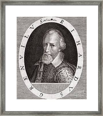 Sir Richard Grenville, English Explorer Framed Print