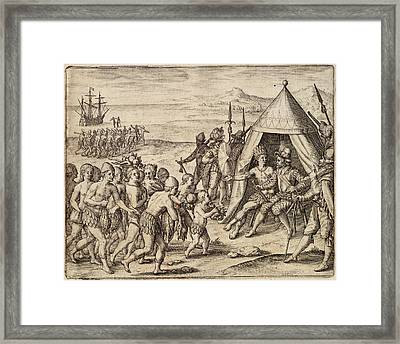 Sir Walter Raleigh Framed Print by British Library