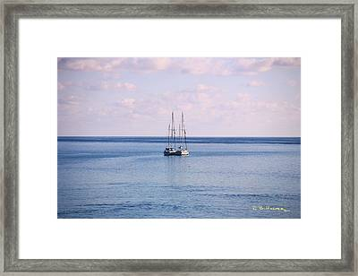 Framed Print featuring the photograph Sister Ships by R B Harper