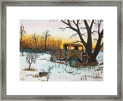 Sittin Where It Quit Framed Print by Jack G  Brauer