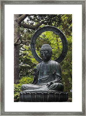 Sitting Buddha Framed Print by Adam Romanowicz