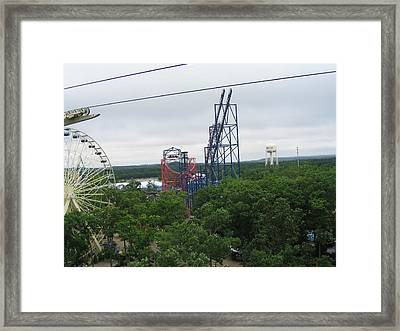 Six Flags Great Adventure - 12122 Framed Print