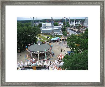 Six Flags Great Adventure - 12127 Framed Print by DC Photographer