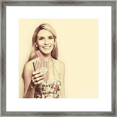 Sixties Retro Film Framed Print
