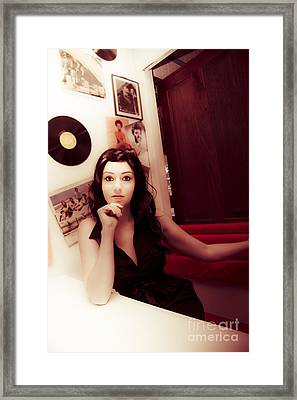Sixties Retro Woman Framed Print by Jorgo Photography - Wall Art Gallery