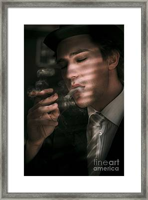 Sixties Vintage Detective Framed Print by Jorgo Photography - Wall Art Gallery