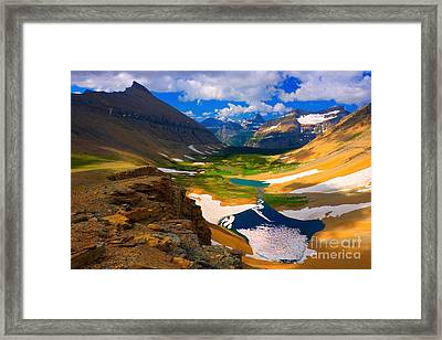 Framed Print featuring the photograph Siyeh Pass by Aaron Whittemore