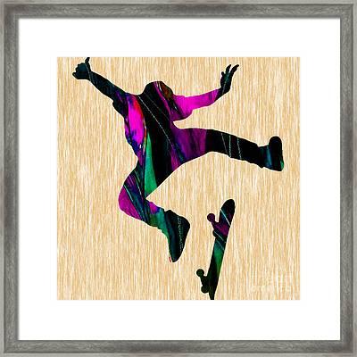 Skateboard Framed Print by Marvin Blaine