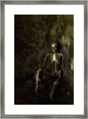 Skeleton Framed Print by Amanda Elwell