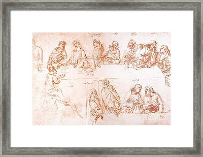 Sketch For The Last Supper Framed Print