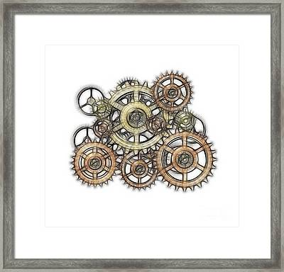 Sketch Of Machinery Framed Print by Michal Boubin