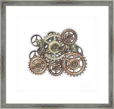 Sketch Of Machinery Framed Print by Michal Boubin
