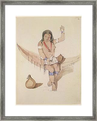 Sketches Of Indians Framed Print by British Library