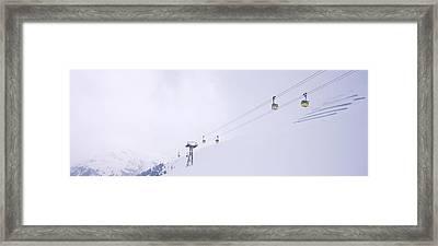 Ski Lifts In A Ski Resort, Arlberg, St Framed Print