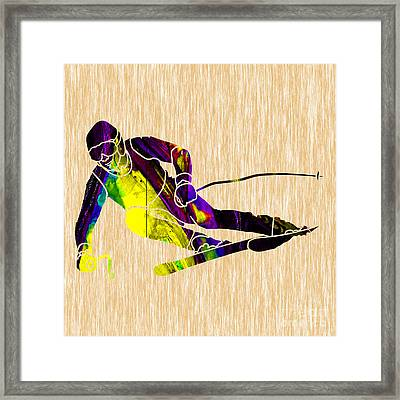 Skiing Framed Print by Marvin Blaine