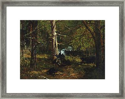 Skirmish In The Wilderness Framed Print by Celestial Images