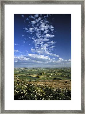 Sky From Steptoe Framed Print by Latah Trail Foundation