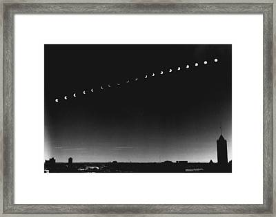 Skyline Eclipse Framed Print by Retro Images Archive