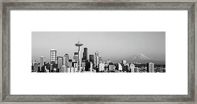 Skyline, Seattle, Washington State, Usa Framed Print