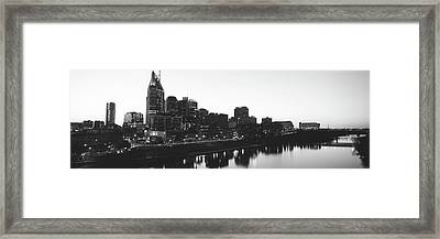 Skylines At Dusk, Nashville, Tennessee Framed Print by Panoramic Images