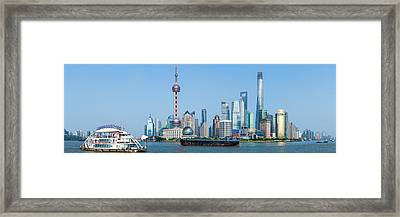 Skylines At The Waterfront, Oriental Framed Print